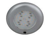 Nova 12V LED Switched Downlight - Plastic With Matt Silver Finish
