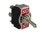 ON/OFF/ON Toggle Switch - 20A@12V (2 Pole) With Decal