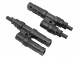 Pair of MC4 T-Branch Solar Connectors