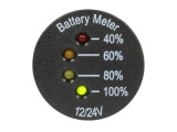 Panel Mount Battery Meter 12V & 24V DC