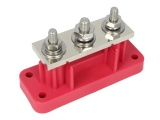 VTE 700A 3 Point High Amperage Terminal Busbar - Red