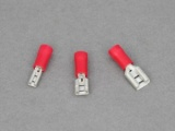 Female Blade Terminals - 0.5 - 1.5mm² Cable (Red)