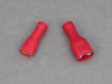 Female Blade Terminals - Fully Insulated - 0.5 - 1.5mm² Cable (Red)