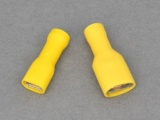 Female Blade Terminals - Fully Insulated - 3.0 - 6.0mm² Cable (Yellow)