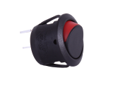 ON/OFF Round Mini Rocker Switch With Red Indicator - 12V