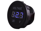 Panel Mount Digital Volt Meter 12V & 24V DC (Blue Display)