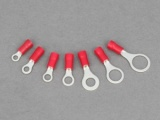 Ring Terminals - 0.5 - 1.5mm² Cable (Red)