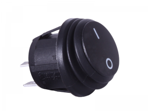 Waterproof ON/OFF Round Mini Rocker Switch - 12V